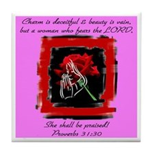 Proverbs 31 Tile Coaster