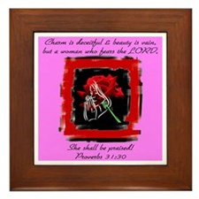 Proverbs 31 Framed Tile