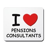 I love pensions consultants Mousepad