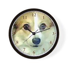 Pembroke Corgi Clock face Wall Clock