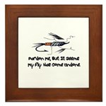 Fly Undone Framed Tile