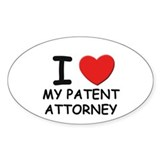 I love patent attorneys Oval Decal
