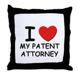 I love patent attorneys Throw Pillow