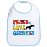 PEACE LOVE OSPREYS Bib