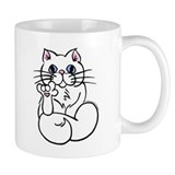 Longhair ASL Kitty Small Mug
