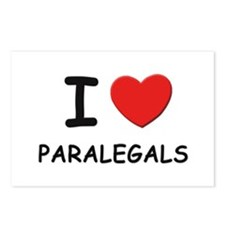 I love paralegals Postcards (Package of 8)