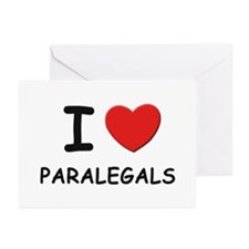 I love paralegals Greeting Cards (Pk of 10)
