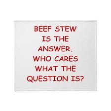 beef stew Throw Blanket