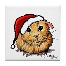 Christmas Cavy Tile Coaster
