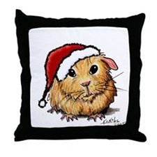 Christmas Cavy Throw Pillow
