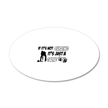Curling lover designs 20x12 Oval Wall Decal