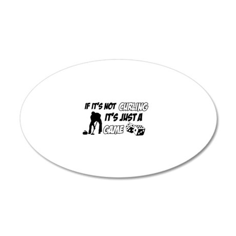 Curling lover designs 35x21 Oval Wall Decal