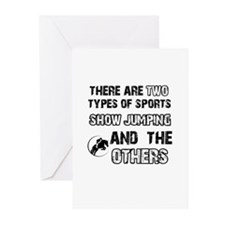 Show Jumping designs Greeting Cards (Pk of 20)