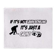 Lawnbowling lover designs Throw Blanket