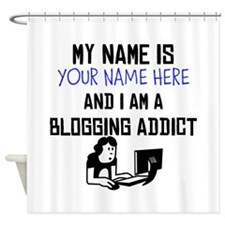 Custom Blogging Addict Shower Curtain