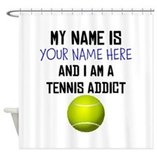 Custom Tennis Addict Shower Curtain