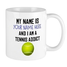 Custom Tennis Addict Small Mug