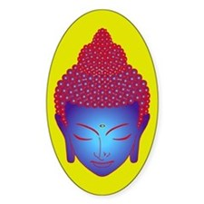 purple buddha Oval Decal
