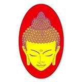 green buddha Oval Decal