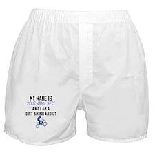 Custom Dirt Biking Addict Boxer Shorts