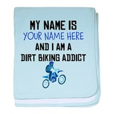Custom Dirt Biking Addict baby blanket