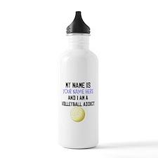 Custom Volleyball Addict Water Bottle