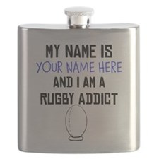 Custom Rugby Addict Flask