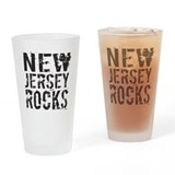 New Jersey Rocks Drinking Glass