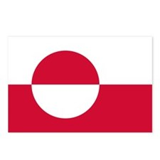 Flag of Greenland Postcards (Package of 8)