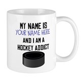 Custom Hockey Addict Coffee Mug