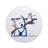 Westie One-Arm Bandit Ornament (Round)