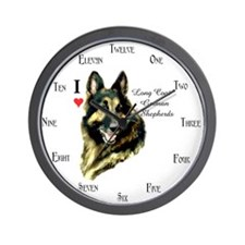 Long Coat German Shepherd Wall Clocks