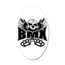 BMX Brass Knuckles 35x21 Oval Wall Decal