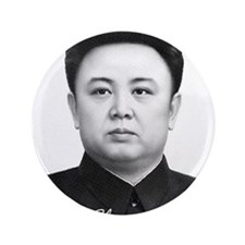 "Kim Jong Il 3.5"" Button (100 pack)"