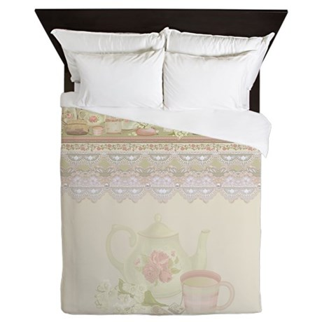 Vintage Tea Queen Duvet