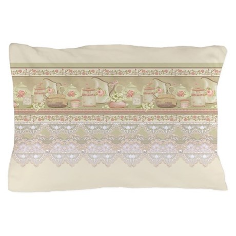 Vintage Tea Pillow Case