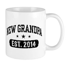 New Grandpa Est. 2014 Small Mug