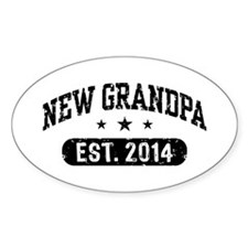 New Grandpa Est. 2014 Bumper Stickers