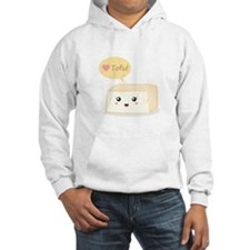 Kawaii tofu asking people to love tofu Hoodie