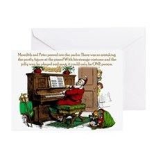 Santa? at Piano Greeting Cards (Pk of 10)