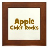 Apple Cider Rocks Framed Tile