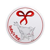 Goat Christmas Saanen and baby Ornament