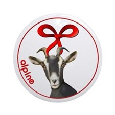 Goat Alpine Doe Christmas Ornament