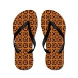 Gold Honeycomb Flip Flops