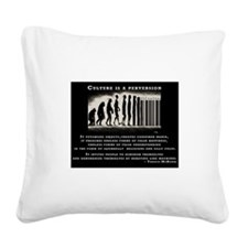 Terence McKenna Square Canvas Pillow