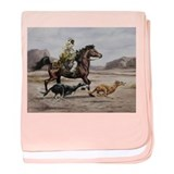 Bedouin Riding with Saluki Hounds baby blanket