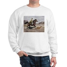 Bedouin Riding with Saluki Hounds Sweatshirt