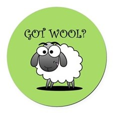 GOT WOOL? Round Car Magnet