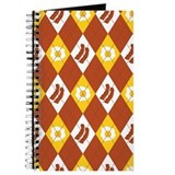 Bacon and Eggs Argyle Pattern Journal