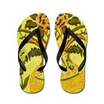 Flip Flops Fabric Yellow Fancy